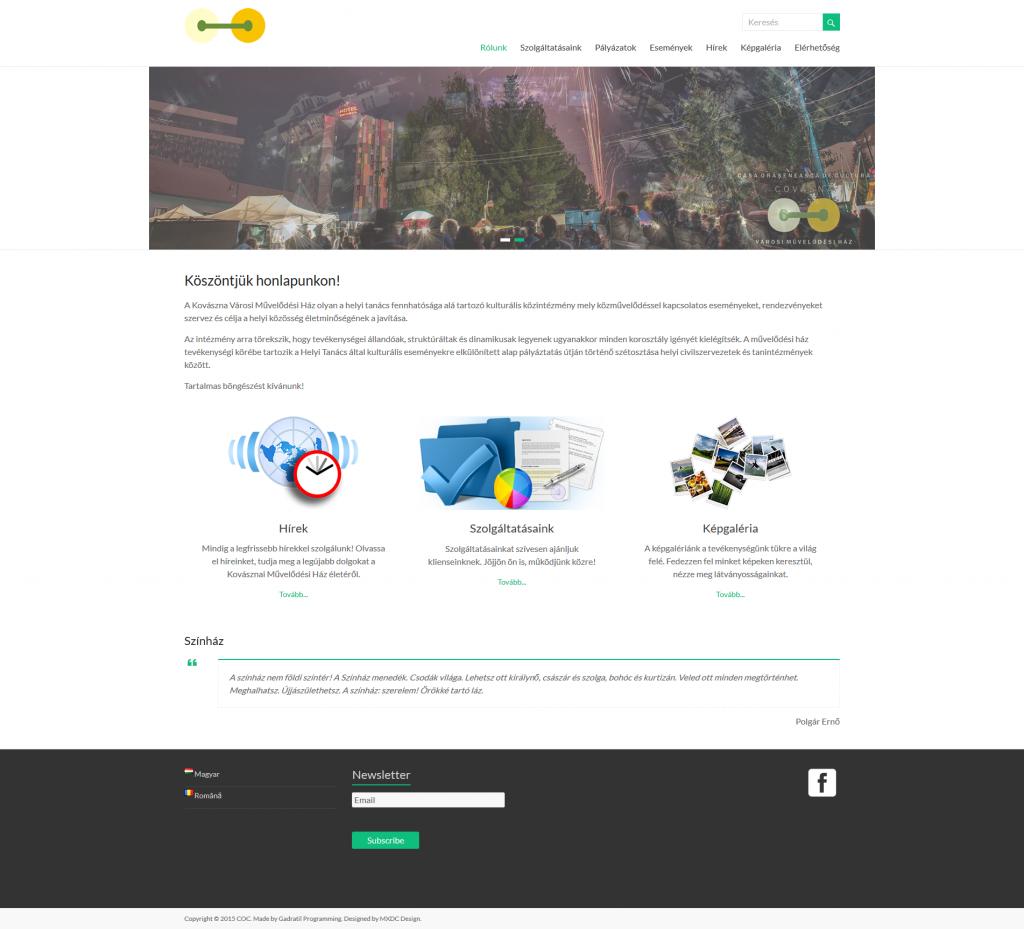 CCCV Weboldal
